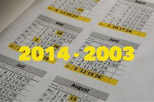 2014 zurück bis 2003